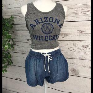 😊Mossino denim drawstring shorts